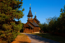Wooden Orthodox Church In Russia.