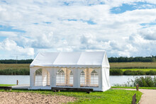 Party Wedding Outdoor Patio Tent By The Lake