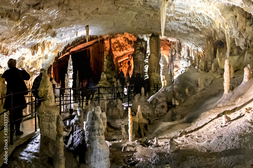 Cuadros en Lienzo The stalagmites and stalactites of the Postojna cave, one of the largest cave sy