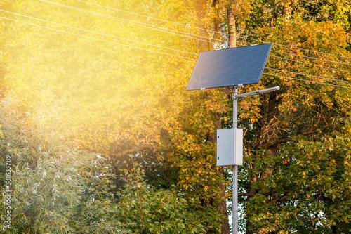 Fotografia Modern street lighting pole