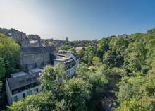 Aerial Shot Of Dean Village In Edinburgh, UK