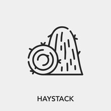 Haystack Icon Vector. Linear S...