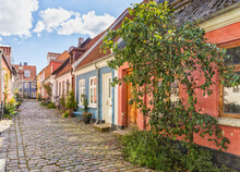 Idylic Cobbled Street At The O...