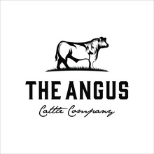 Angus Bull Logo Design With Classic And Elegant Style
