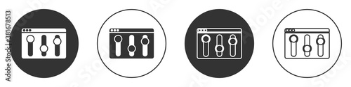 Fotografija Black Browser setting icon isolated on white background
