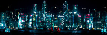 City Night Neon Lights Dots, Multiple Backgrounds Image