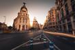 Gran Via, main street of Madrid, Spain.