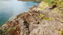 Wide View Of Dunollie Castle, A Small Ruined Castle Located In Oban, On The West Coast Of Scotland, UK, Dating Back To 714 AD
