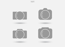 Camera Sign And Symbol. Photo Icon Or Image Icon. Vector.