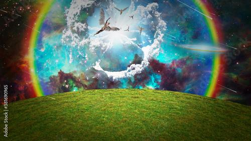 Fotografija Angels in the sky. 3D rendering