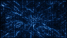 Abstract Digital Hi Tech Chips...