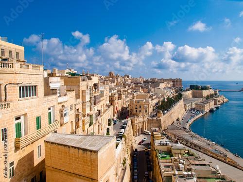 View of Valletta, the capital city of Malta Fotobehang