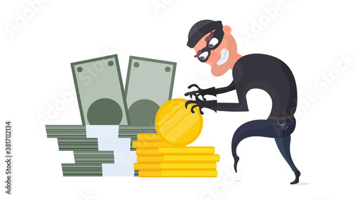 Valokuva The robber steals money