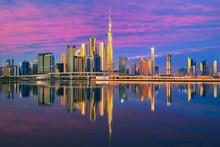 View On Dubai Skyline With Ref...