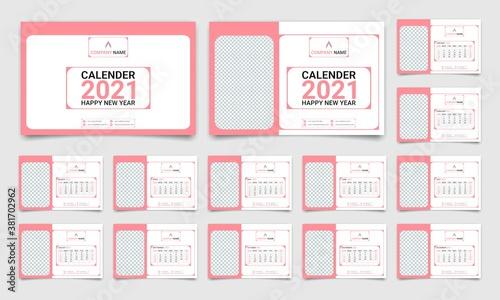 Leinwand Poster modern calender tamplate design 2021