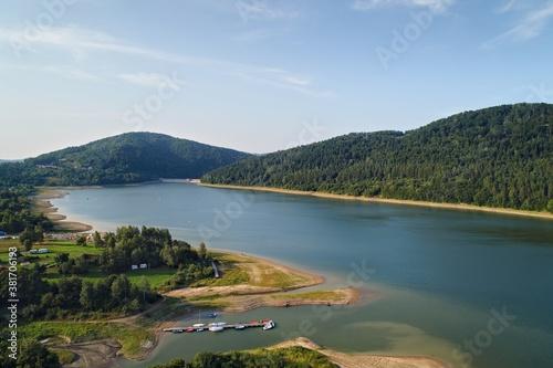 Fototapeta Klimkówka , Jezioro Klimkowskie z drona obraz