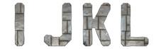 Set Of Capital Letters I, J, K...