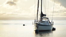 A Two-masted Sailboat (ketch) ...