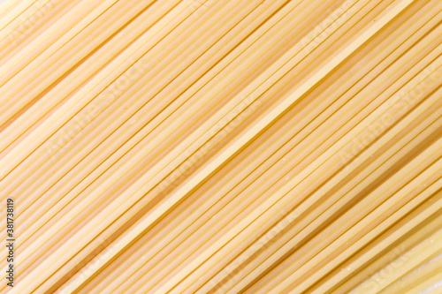 Obraz na płótnie Traditional spaghetti pasta closeup background Texture large detailed horizontal