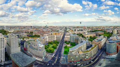 Foto panoramic view at central berlin