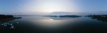 Panorama Of An Early Foggy Mor...