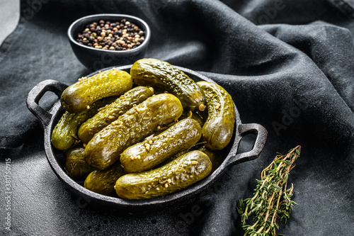 Plate of pickled homemade cucumbers, pickles Canvas Print