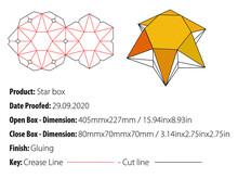Star Box Packaging Design Template Gluing Die Cut - Vector