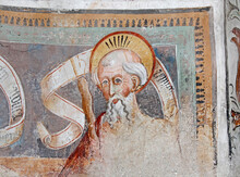 Un Apostolo; Affresco Di Giovanni E Battista Baschenis Nella Chiesa Dei Santi Filippo E Giacomo E Segonzone (Trentino)