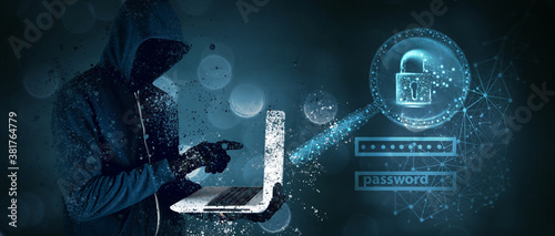 Fotografie, Obraz Data protection and cyber security concept