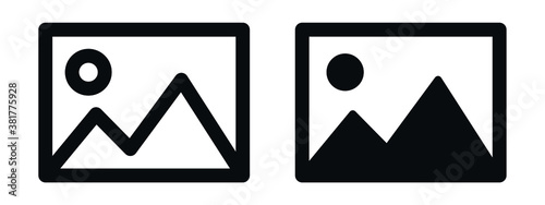 Obraz gallery icon vector, silhouette of an image, Photo album icon - fototapety do salonu