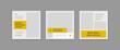 Set of Social Media Post Template, Editable Square Banner Ads, Geometric Creative Shape, Electronic Media Vector Illustration