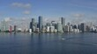 Aerial shot of downtown Miami from Biscayne bay.