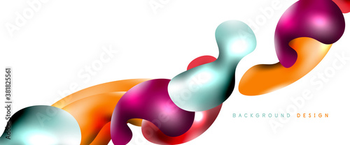 Bubbles abstract background. Liquid splashes on white vector template