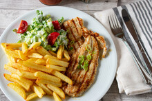 Grilled Chicken With French Fr...