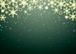 クリスマス 雪の結晶 背景 フレーム イラスト 緑