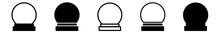 Crystal Ball Icon Black   Sphe...