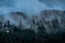 Fog Lingers In The Mountains O...