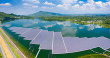 Aerial View Of Floating Solar ...