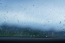 Rain Drop On Windscreen Shot F...
