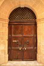 Traditional Old Wooden Door In...