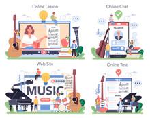 Music Education Course Online Service Or Platform Set. Young