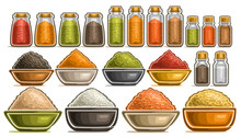Vector Set Of Different Spices...