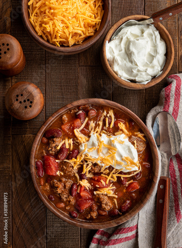 Bowl of chili con carne Canvas Print