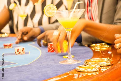 Obraz na plátně Gambling in Africa