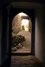 View Through The Door In The C...