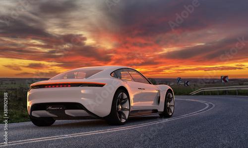 Porsche Mission E electric sports car