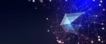 Big Data Concept. Crystal Mesh...