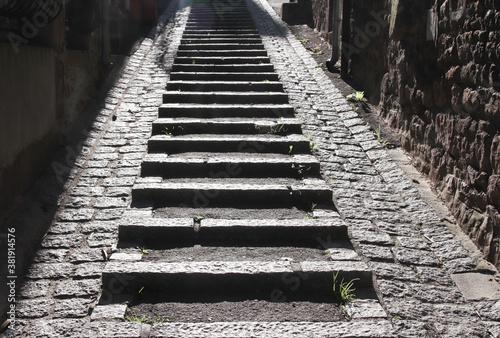escalier de ruelle Villedieu-les-Poêles Manche