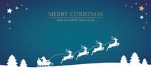 Santa Claus In A Sleigh With R...