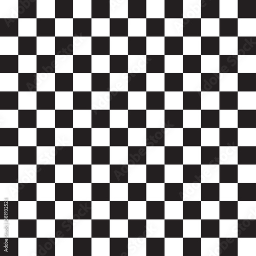 Seamless, repeatable checkered, chequered squares pattern and background Canvas Print